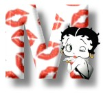 Alfabetten Betty boop kus