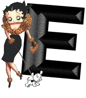 Betty boop transparant 5 alfabetten