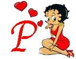 Betty boop valentijn alfabetten