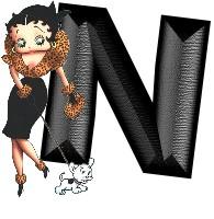 Betty boop zwart 1 alfabetten