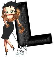 Alfabetten Betty boop zwart 1