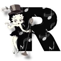 Betty boop zwart alfabetten