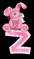 Alfabetten Roze paaskonijntje