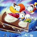 Disney Donald duck Avatars Sleeen Met Donald En Kwik Kwek En Kwak Winter Disney