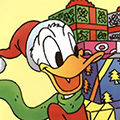 Disney Donald duck Avatars Donald Duck Met Kerst Cadeaus