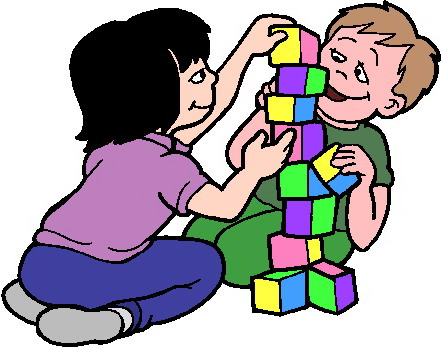 Spelende kinderen cliparts