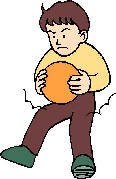 jongen boos met bal