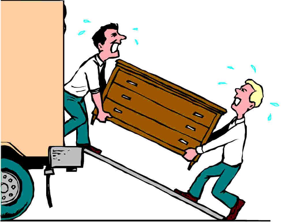 Verhuizen cliparts for Ik ga verhuizen