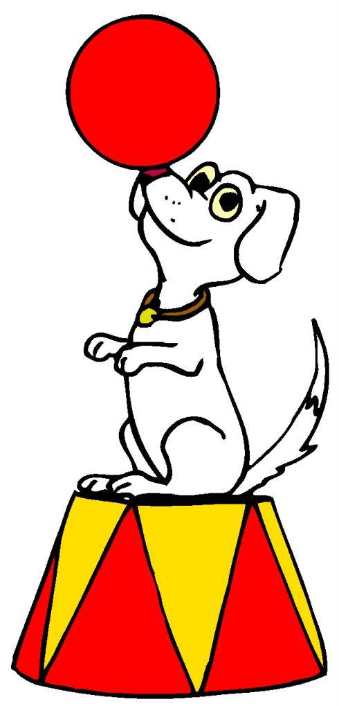 Kleurplaten Circushond.Cliparts Amusement Circus Animaatjes Nl