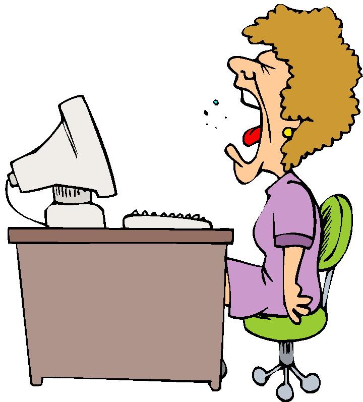 Clipart - Typiste administratief medewerker gaapt lui: www.animaatjes.nl/cliparts/kantoorpersoneel/typiste-administratief...