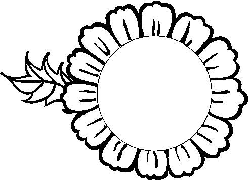 Kleurplaten Zonnebloemen.Cliparts Bloemen En Planten Zonnebloem Animaatjes Nl