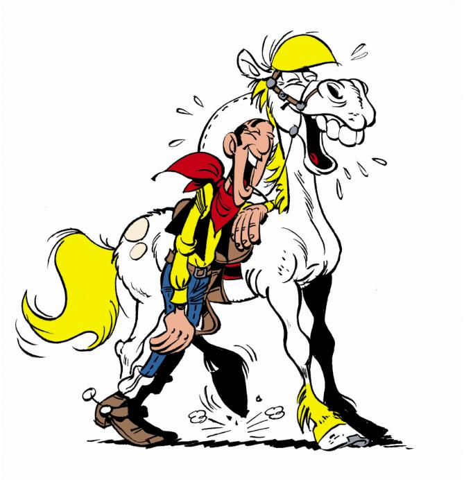 Cliparts cartoons lucky luke animaatjes