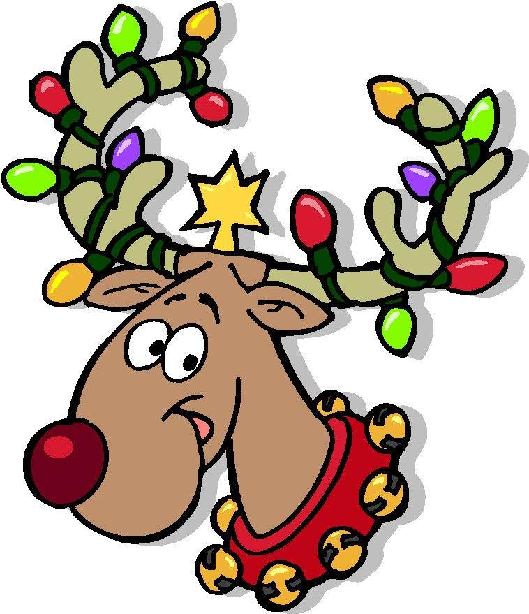 Cliparts Kerstmis Kerst Rendieren » Animaatjes.nl