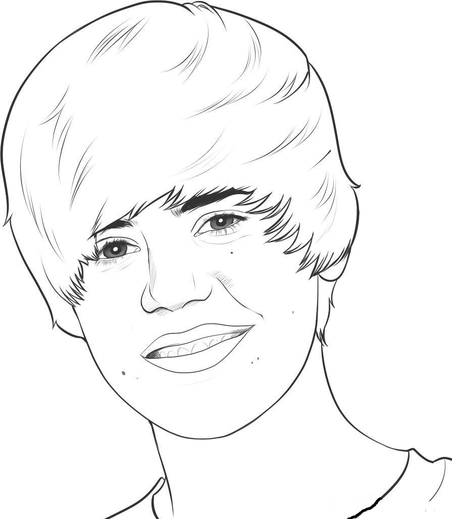 Justin Bieber Kleurplaten » Animaatjes.nl Funny Games Voor Jong En Oud