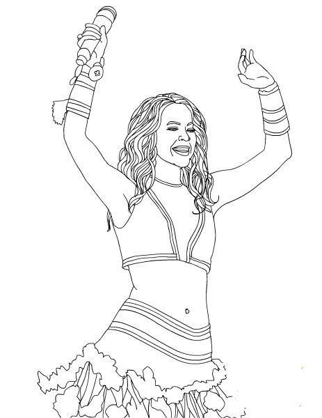 Shakira Kleurplaten 187 Animaatjes Nl
