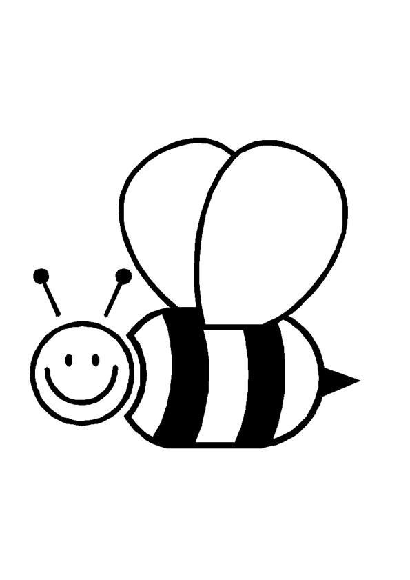 bijen kleurplaat dieren kleurplaat 187 animaatjes nl