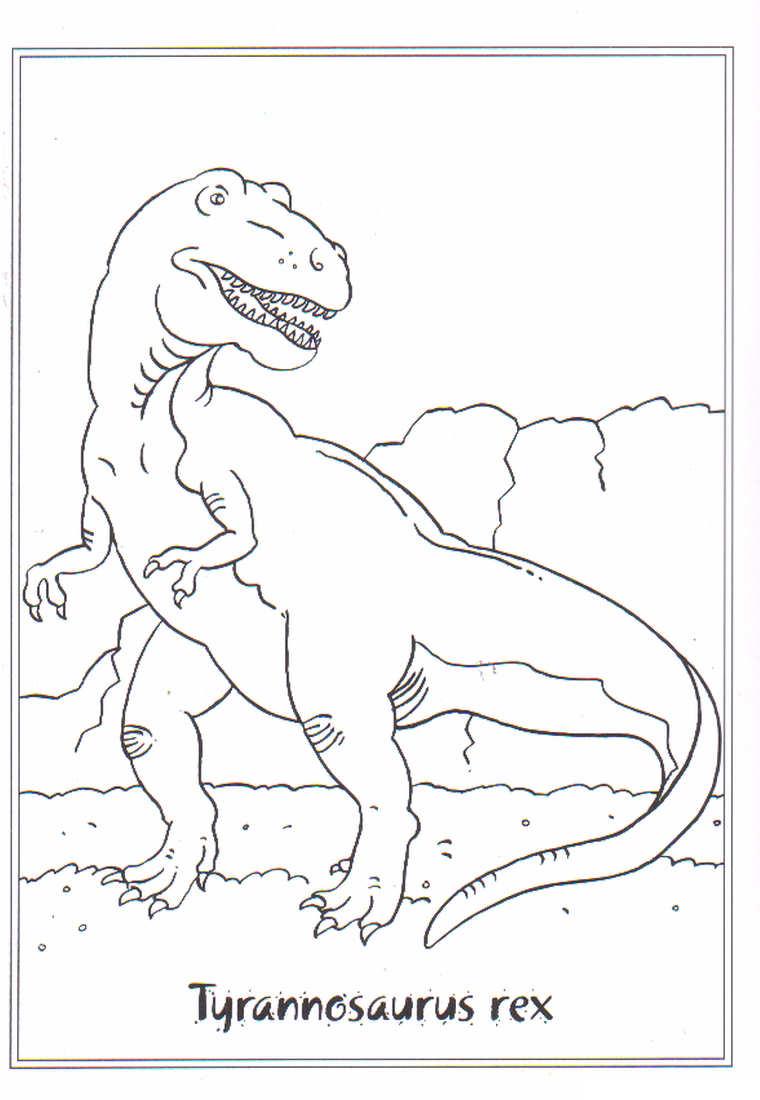 Dinosaurus Kleurplaten Animaatjes Nl