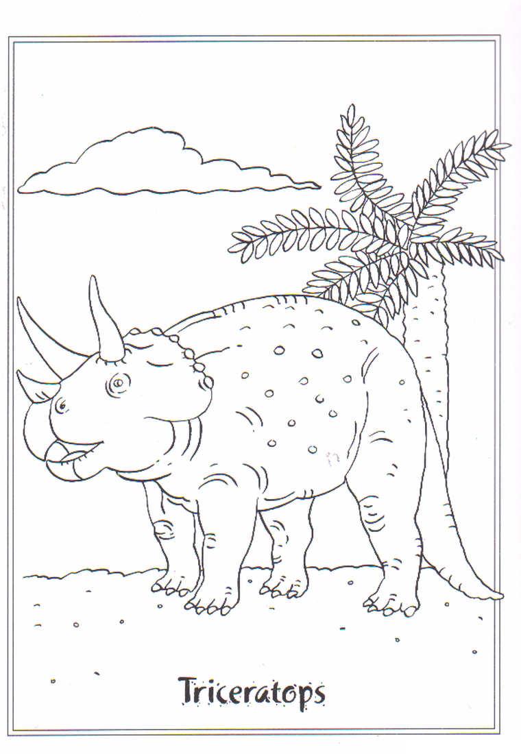 Dinosaurus Kleurplaat Dieren Kleurplaat