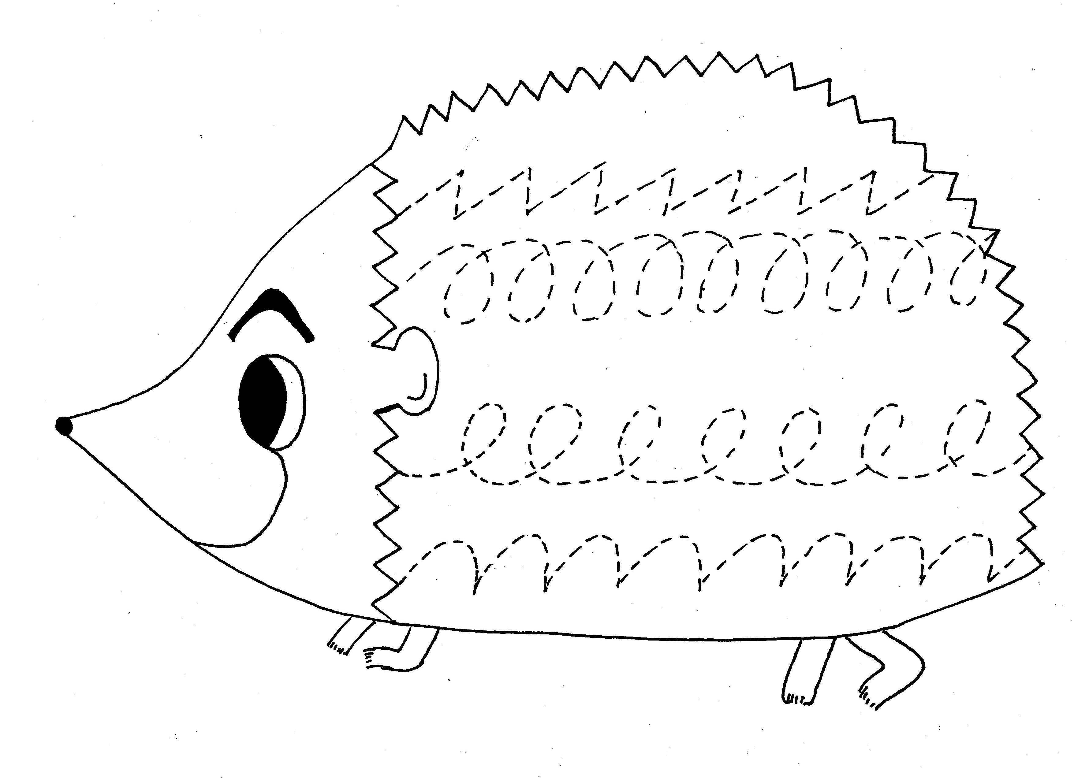 Egel Kleurplaten Animaatjes Nl