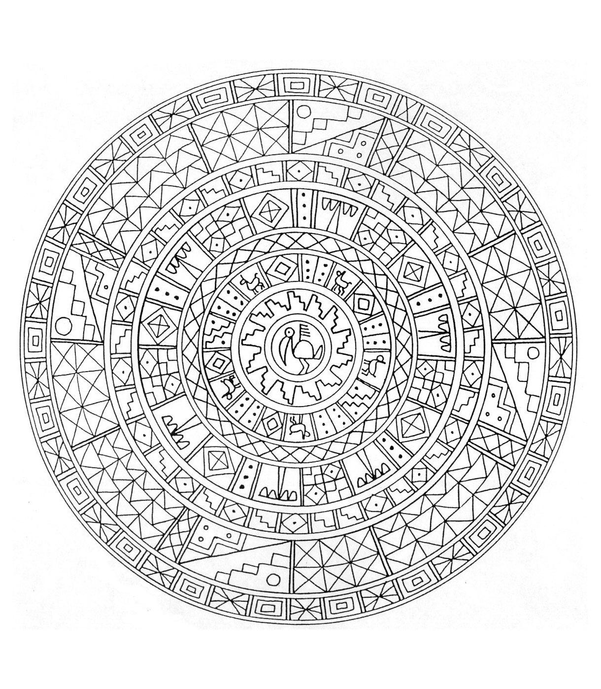 Mandala kleurplaten - Mandala difficile a imprimer ...