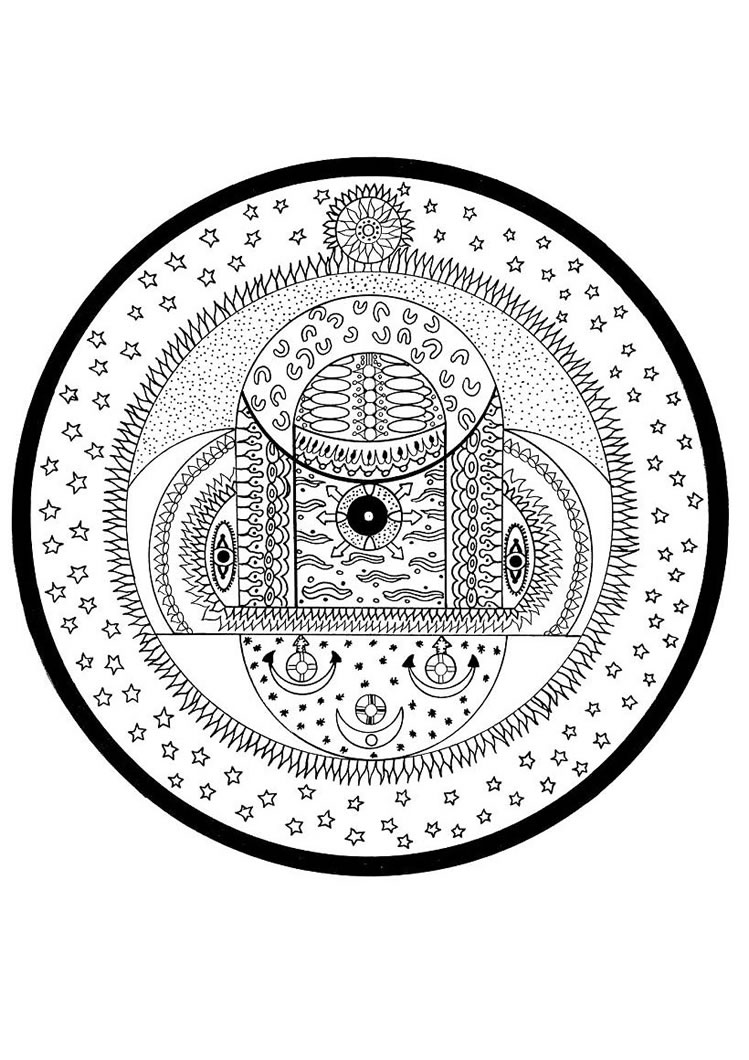 Mandala kleurplaten - Mandala les plus beau du monde ...