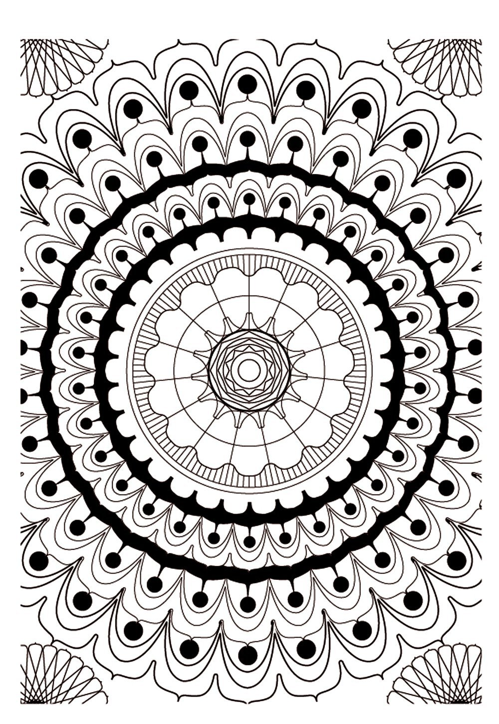 Mandala kleurplaten - Coloriage therapie ...