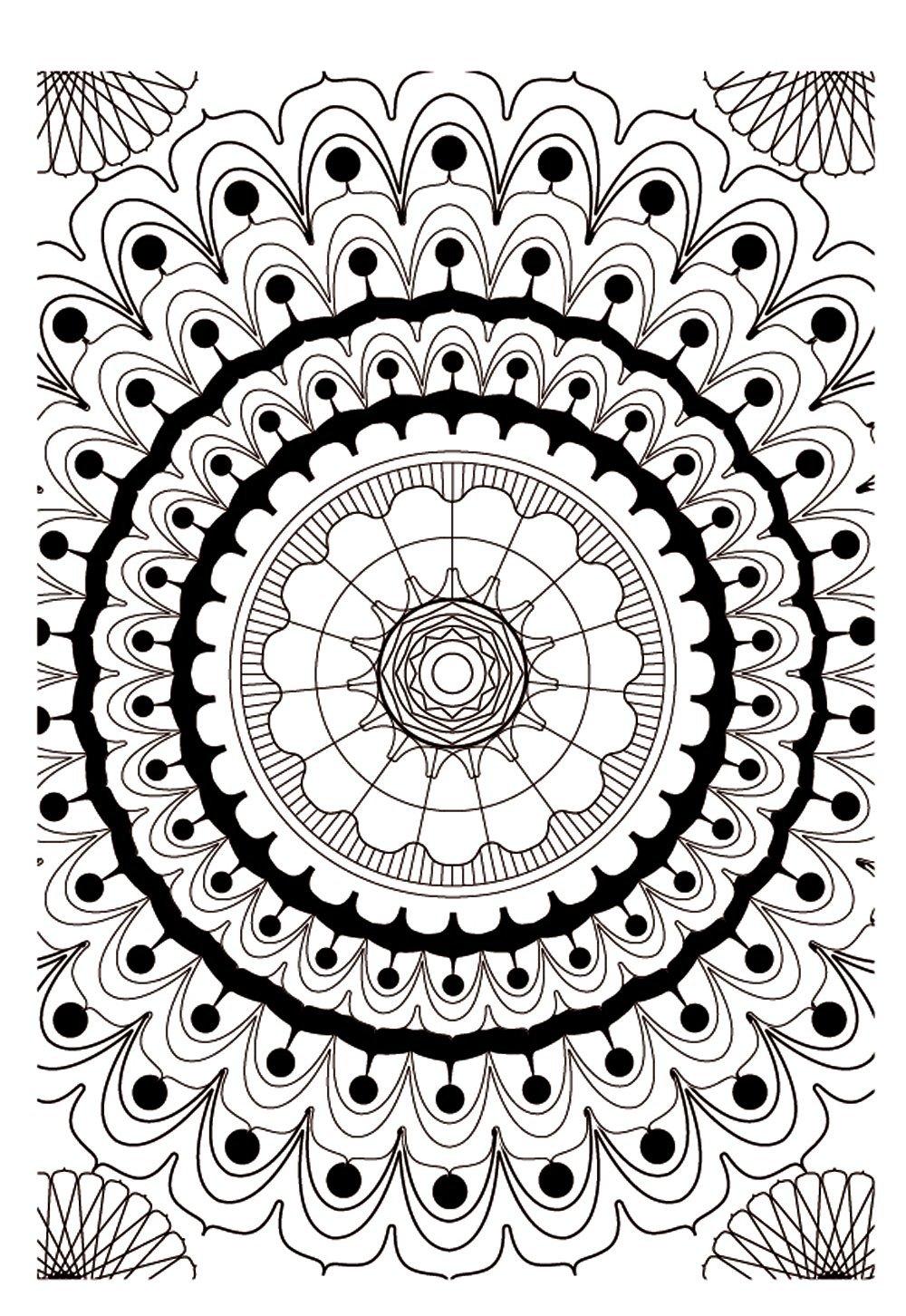 Mandala kleurplaten - Grand mandala ...