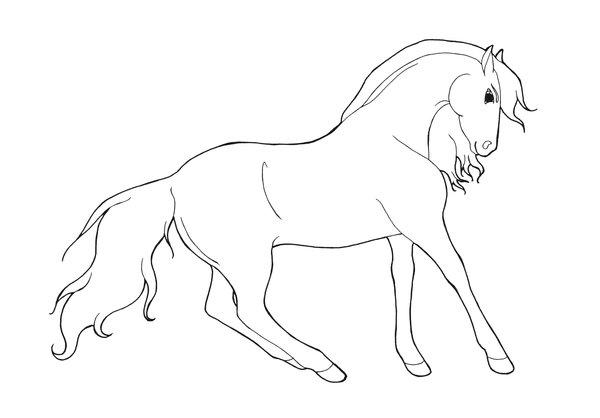 Kleurplaten Paarden En Dolfijnen.Een Kleurplaat Van Een Paard