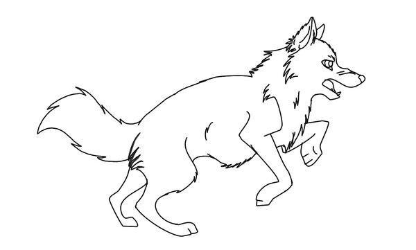 big bad wolf little red riding hood coloring pages