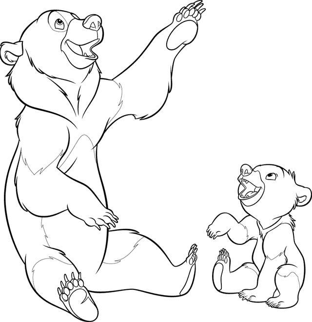 Brother bear Kleurplaten Disney kleurplaten