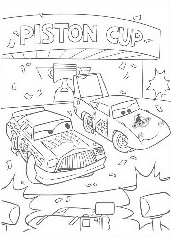 Christmas Cars 2 Coloring Pages
