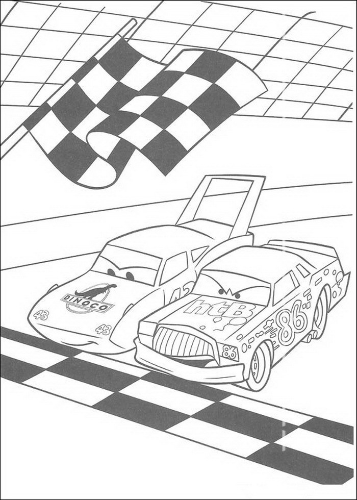 cars character coloring pages - photo#24