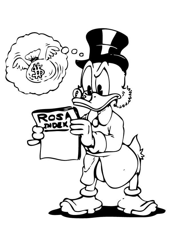 Dagobert duck Kleurplaten Disney kleurplaten