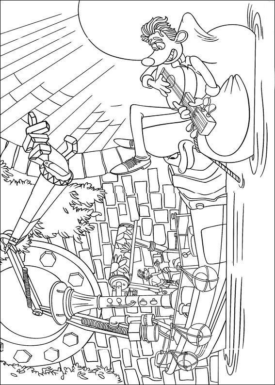 Kleurplaten Disney kleurplaten flushed away