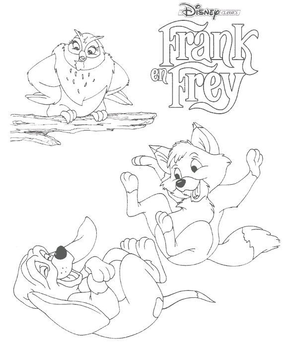 Kleurplaten Disney kleurplaten Frank en frey