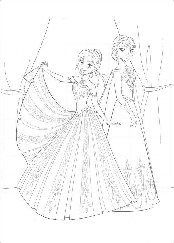 Kleurplaten Disney kleurplaten Frozen