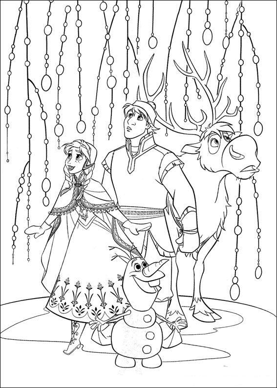 En Kleurplaten Frozen.Kleurplaat Disney Kleurplaat Frozen Animaatjes Nl
