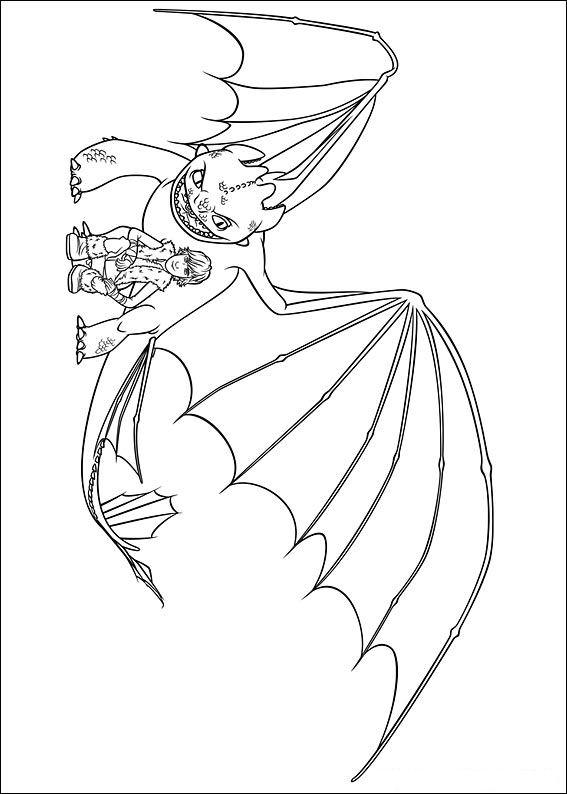 Kleurplaten Disney kleurplaten How to train your dragon