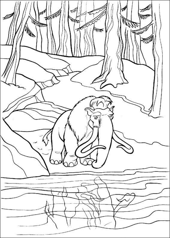 Kleurplaten Disney On Ice.Kleurplaat Disney Kleurplaat Ice Age 2 Animaatjes Nl