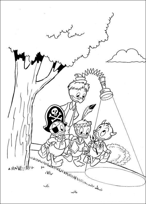 Kwik Kwek En Kwak Kleurplaten Animaatjes Nl