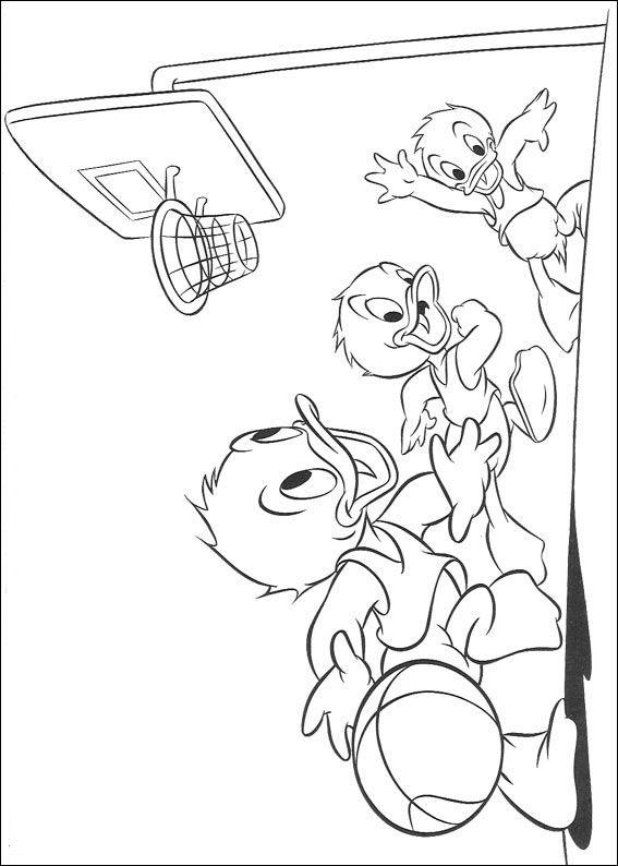 Kleurplaten Disney kleurplaten Kwik kwek en kwak