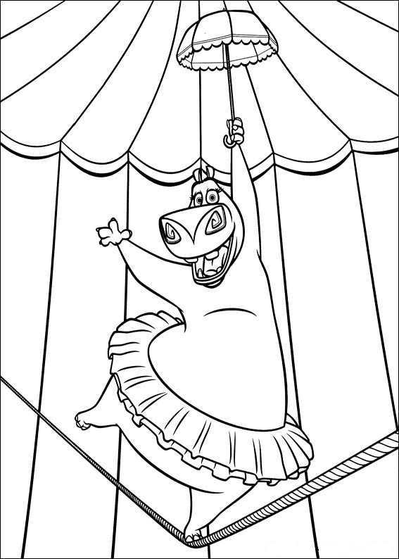 madagascar 3 circus coloring pages - photo#16