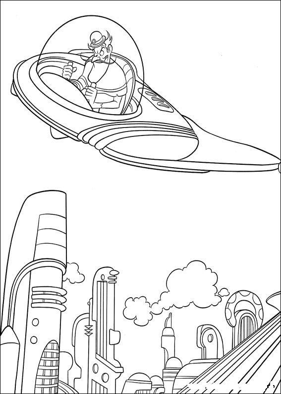 Kleurplaten Disney kleurplaten Meet the robinsons
