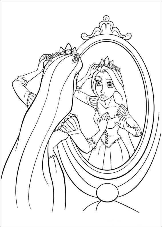 Rapunzel kleurplaten for Disney tangled coloring pages
