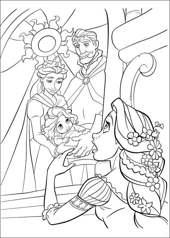 Rapunzel Kleurplaat Disney Kleurplaat