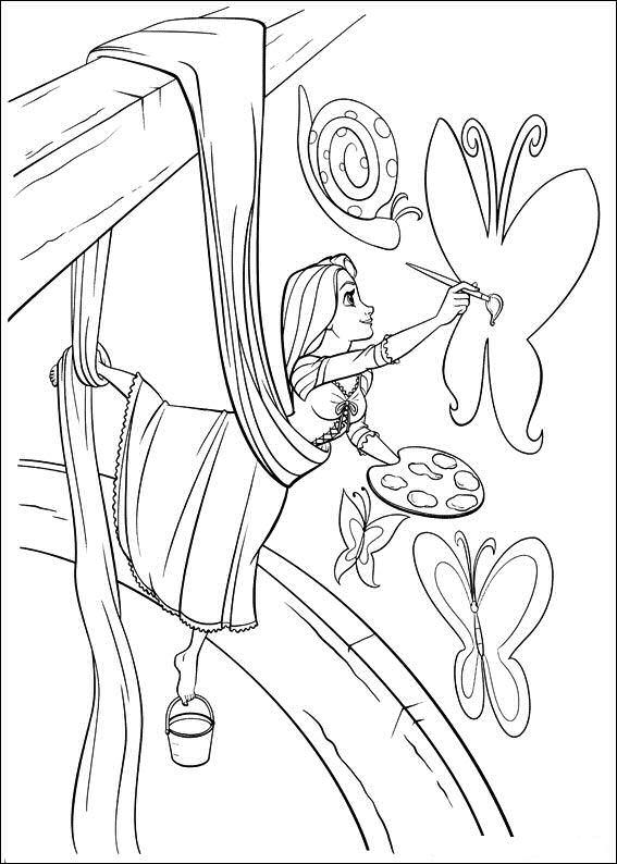 Rapunzel Kleurplaten Disney kleurplaten