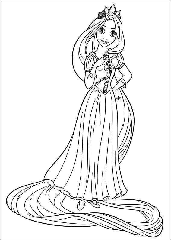 Kleurplaten Prinses Rapunzel.Rapunzel Kleurplaat
