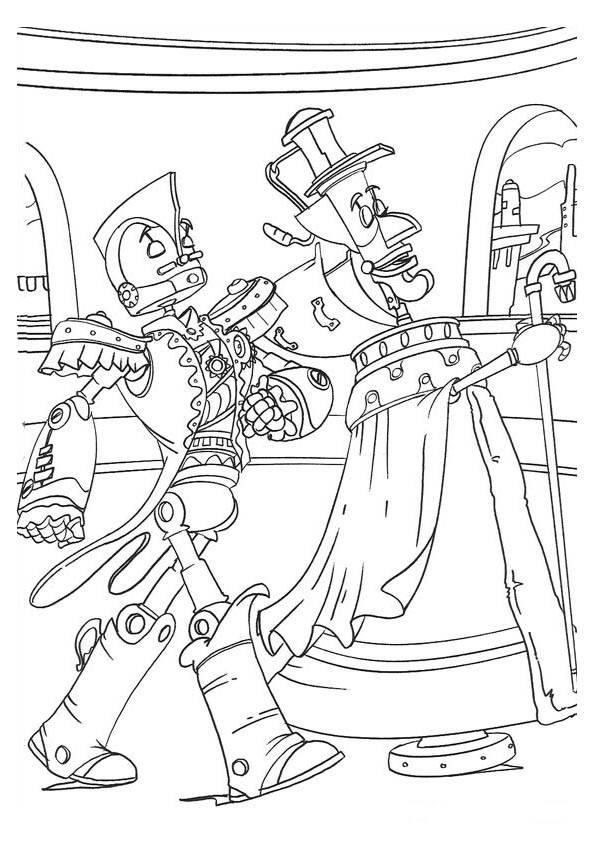 Disney Robots Coloring Pages : Robots kleurplaten animaatjes