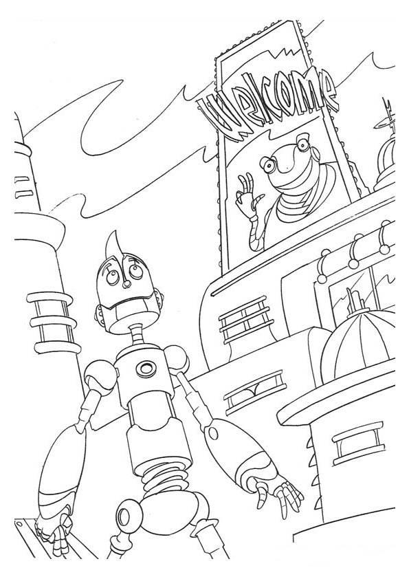 Kleurplaten Robots.Robots Kleurplaat Disney Kleurplaat Animaatjes Nl