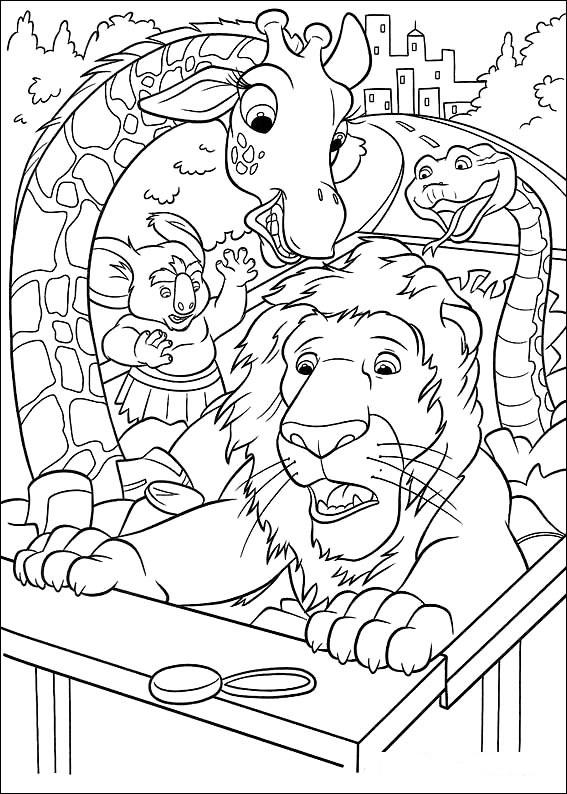 Kleurplaten Disney kleurplaten The wild